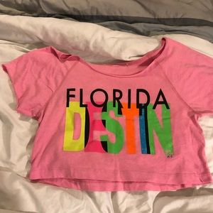 Vintage 1990's 90's Crop Top Florida Shirt Blouse